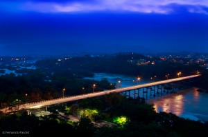 Vista panorâmica da Ponte Dr. Victor Konder