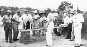1952 – Vistoriando obras da nova sede da S.R.I.