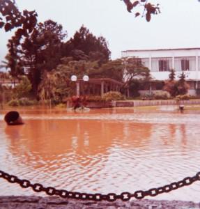 1984 - Vista do Tinga´s bar em direção a Prefeitura.