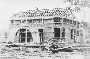 1953 – Obras nova sede da Sociedade Recreativa Indaial