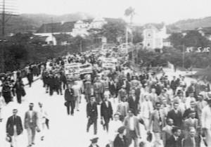 1934 – Emancipação de Indaial, protestos em Blumenau
